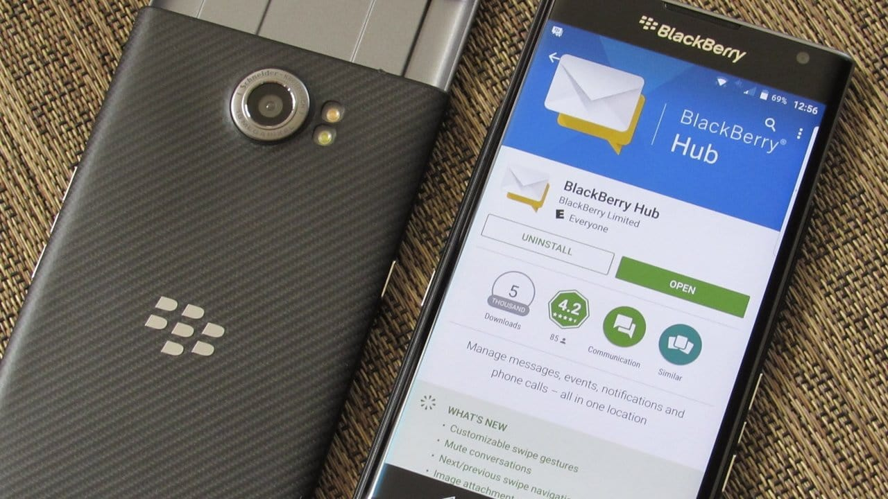 BlackBerry Hub Services Released for All Android Marshmallow Devices