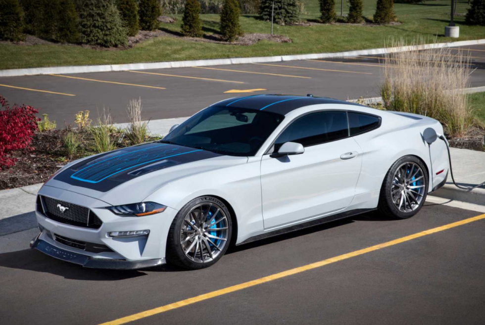 The Ford Mustang Lithium Is An All-Electric Pony Car With A Six-Speed Manual Transmission