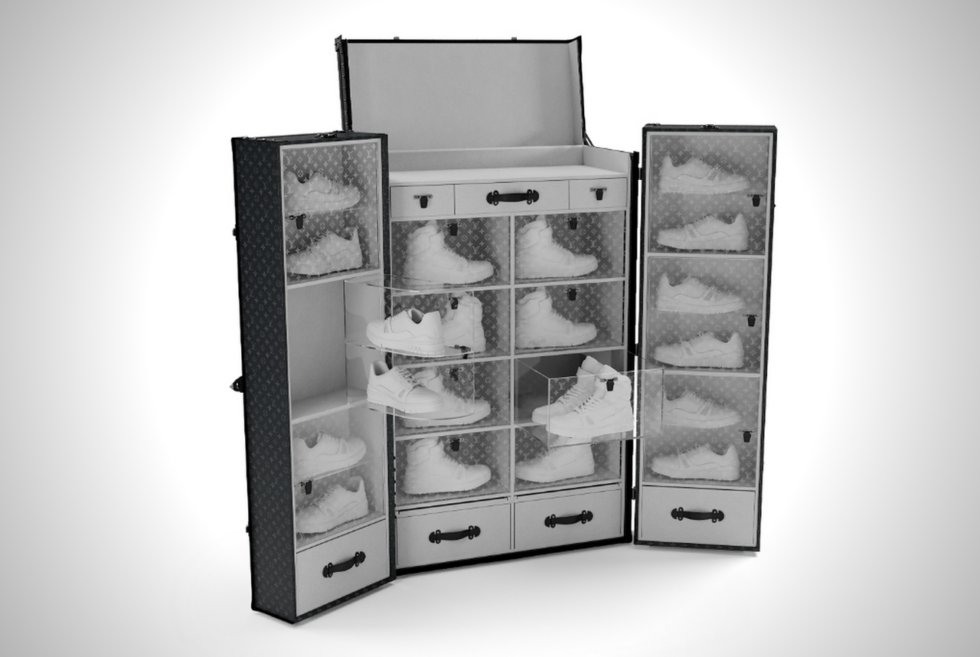 The Louis Vuitton Sneaker Trunk Is The Classiest Storage For Your Kicks