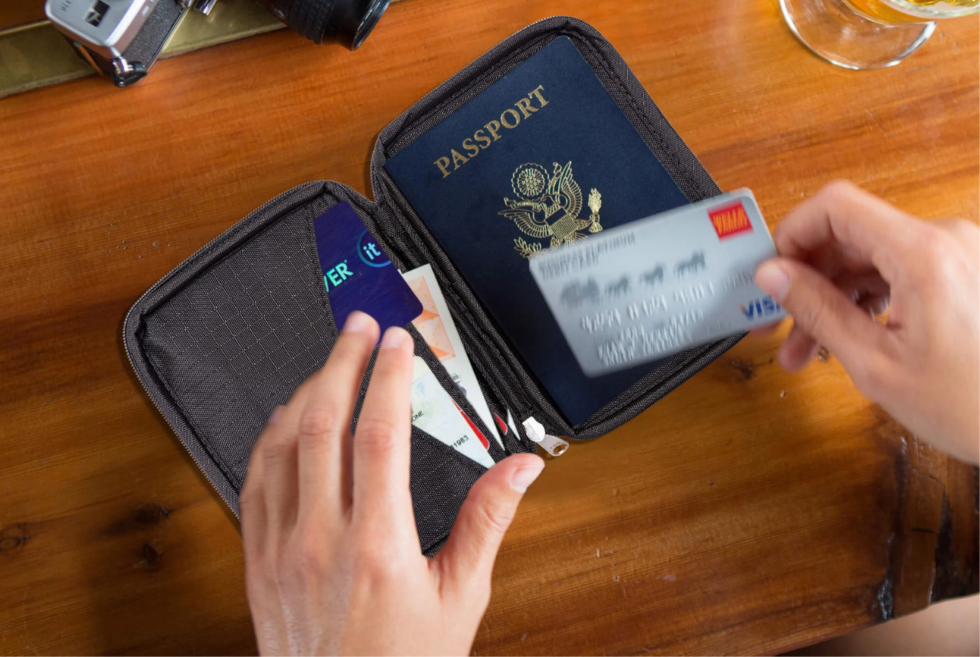 The Zero Grid Passport Wallet ensures data security in a compact size