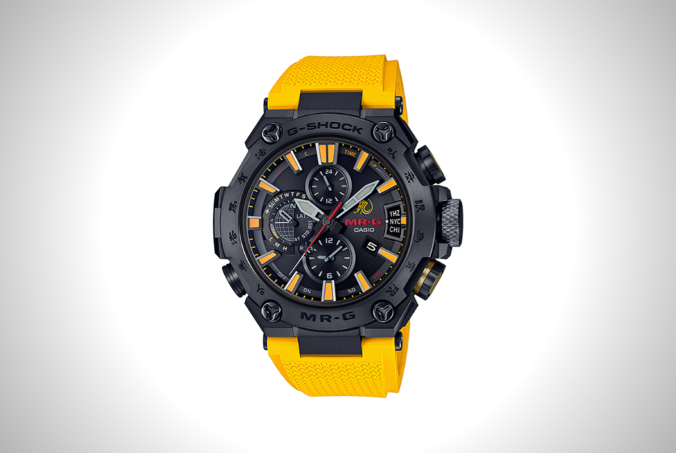 Bruce Lee shines on with the limited-edition Casio MRG-G2000BL-9A