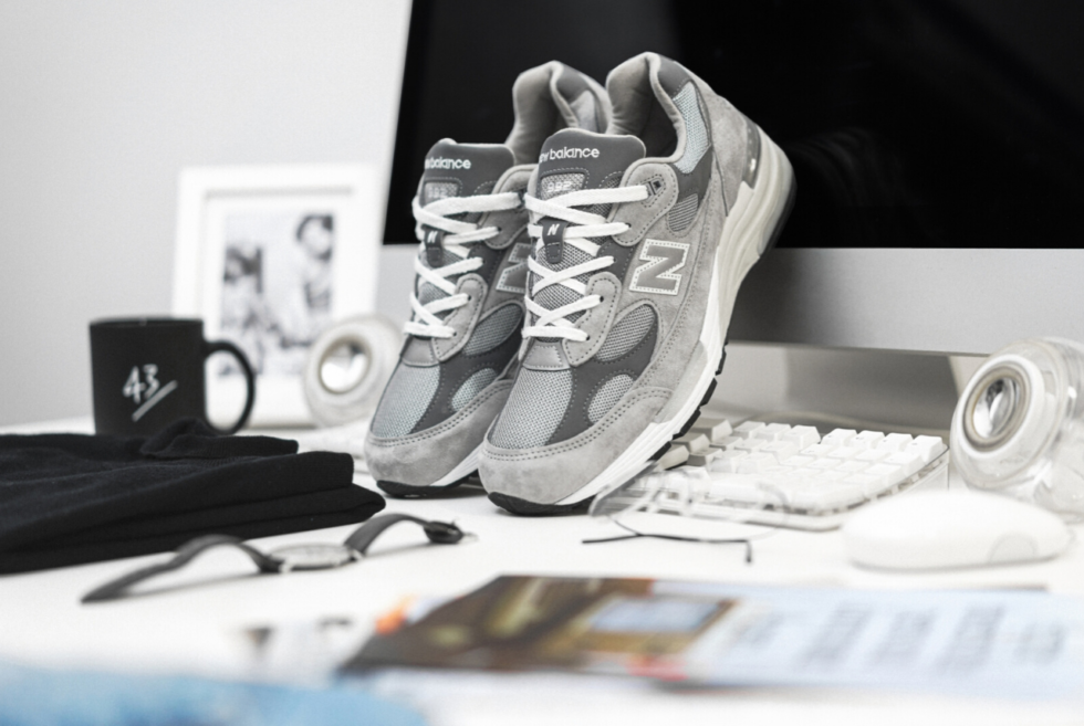 43einhalb pays homage to Steve Jobs with its exclusive New Balance M992GR Sneakers