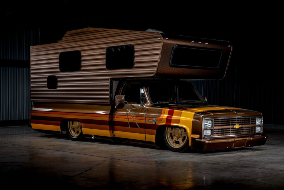 This custom 1983 Chevrolet C30 Camper Brown Sugar is for sale right now