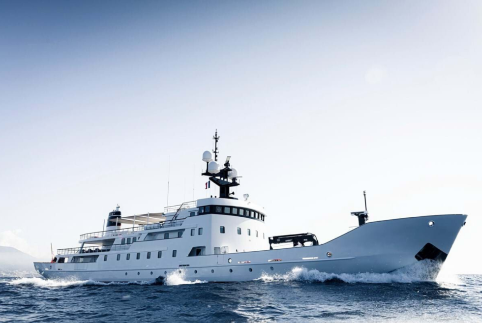 The Olivia is a Cold War ship rebuilt into a luxurious superyacht