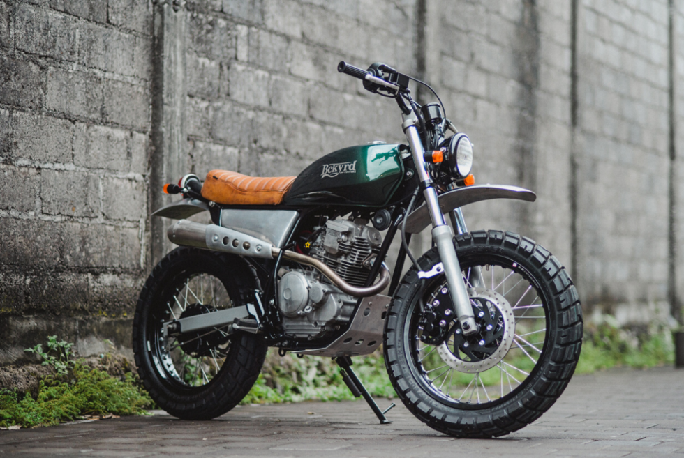 Simple yet striking best describes this Yamaha Scorpio 225 from Backyard Customs