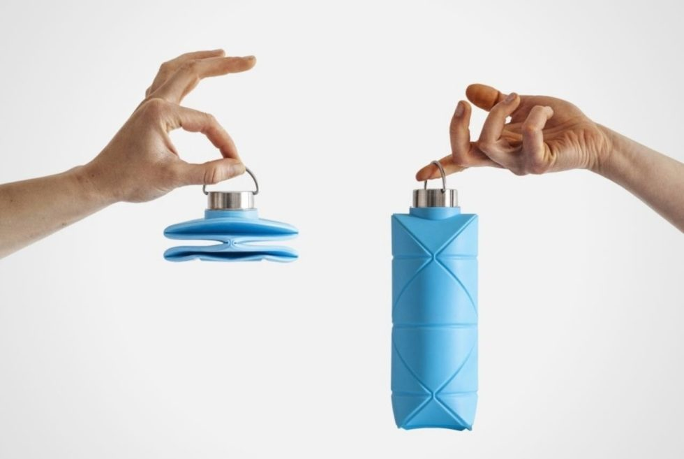 The DiFOLD Origami Bottle Packs Down Flat For Ultimate Portability