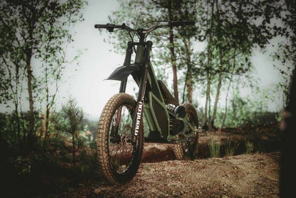 Kuberg designed the Ranger as a dynamic and robust off-road all-electric scooter