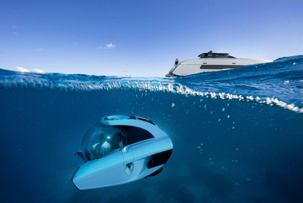Officina Armare Design x U-Boat Worx ont collaboré pour nous apporter l'Aquanaut Yacht