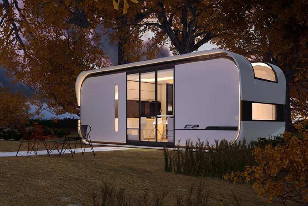 The Nestron Cube Two Is A Sustainable Tiny Home For A Family of Four