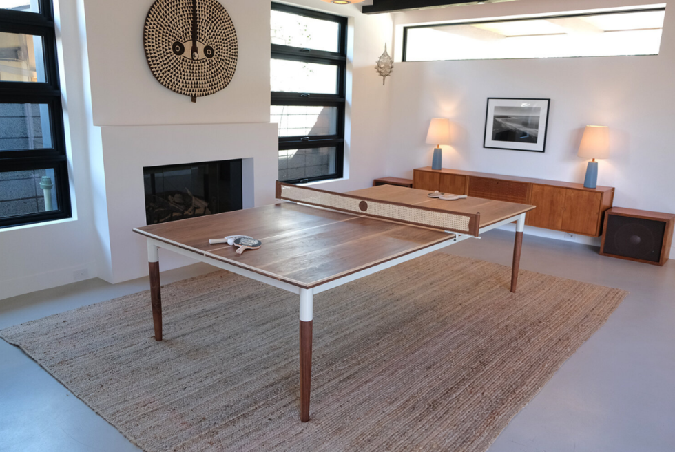 Sean Woolsey Studio lets you play ping pong on the stylish Pong Springs table