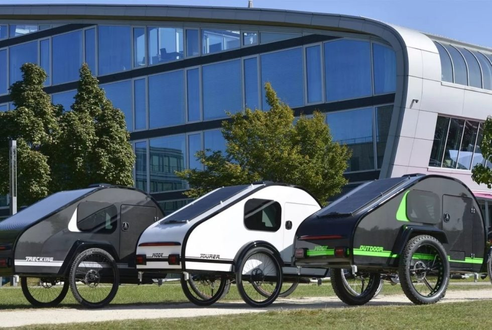 ModyPlast's Mody teardrop trailers Can Take Your Bike To Many Outdoor adventures