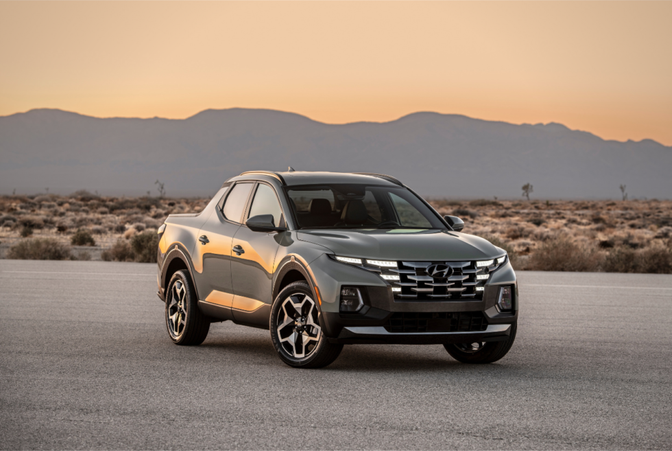 This compact 2022 Hyundai Santa Cruz pickup truck is not an April Fools' joke