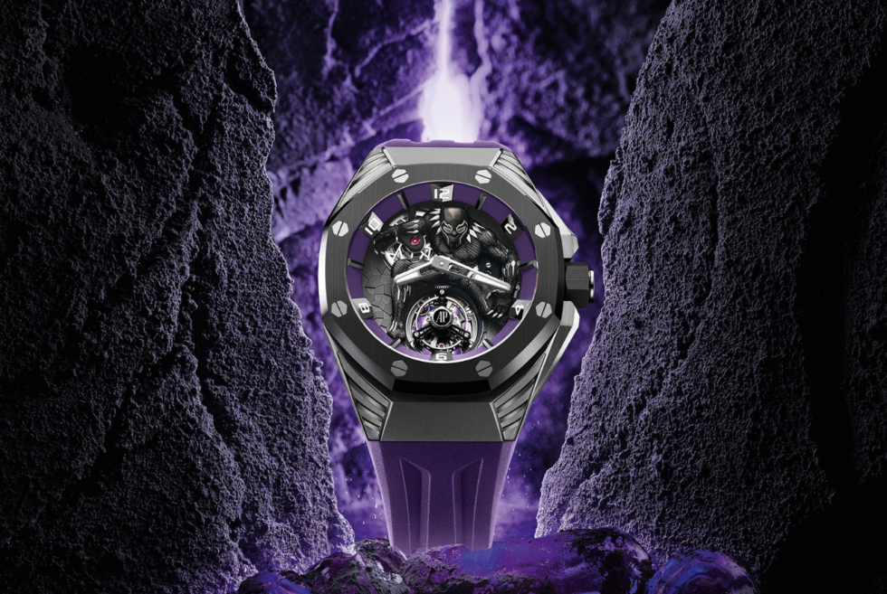 AP honors T'Challa with its Royal Oak Concept 'Black Panther' Flying Tourbillon