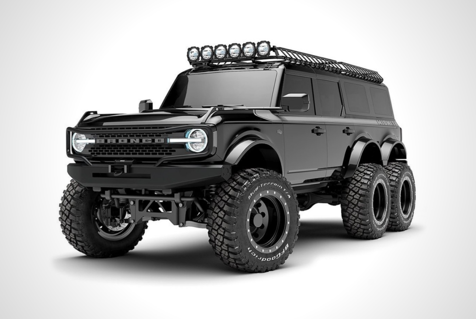 Maxlider Brothers Customs teases a 6×6 Midnite Edition Ford Bronco for 2022
