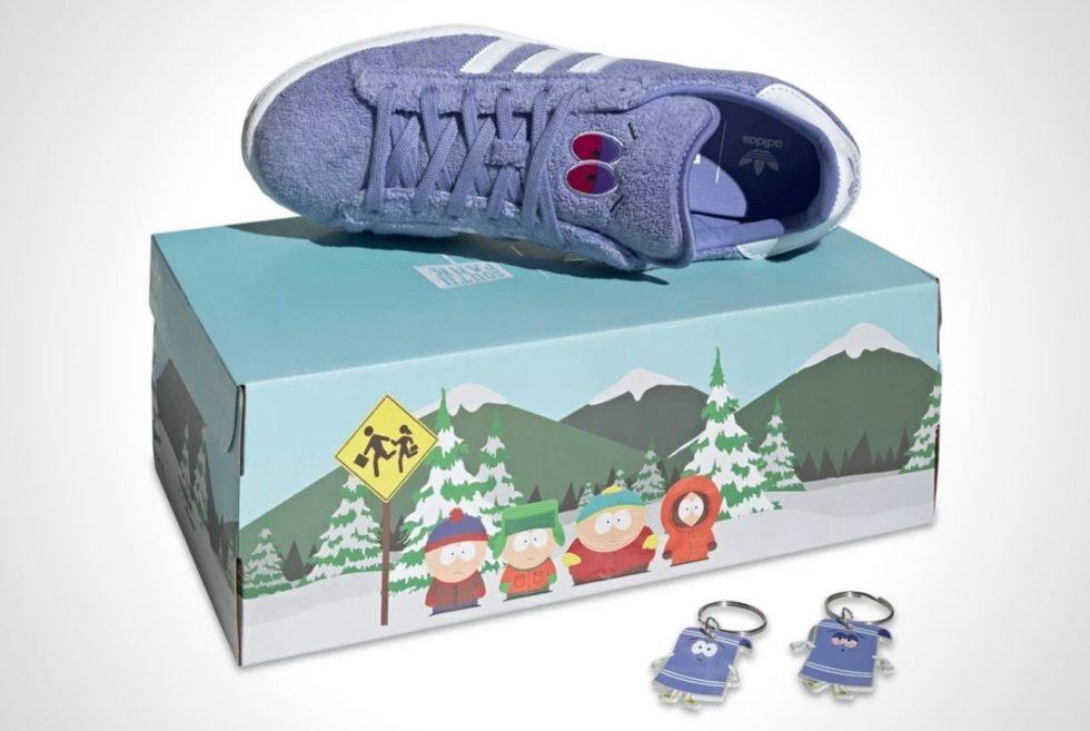 The Eyes Turn White To Bloodshot Red in the Adidas Campus 80s South Park Towelie