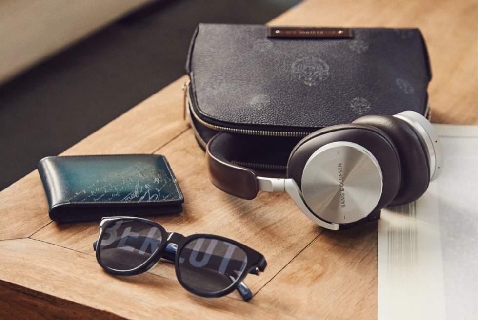 The Berluti x Bang & Olufsen lineup features signature audio with leather upgrades