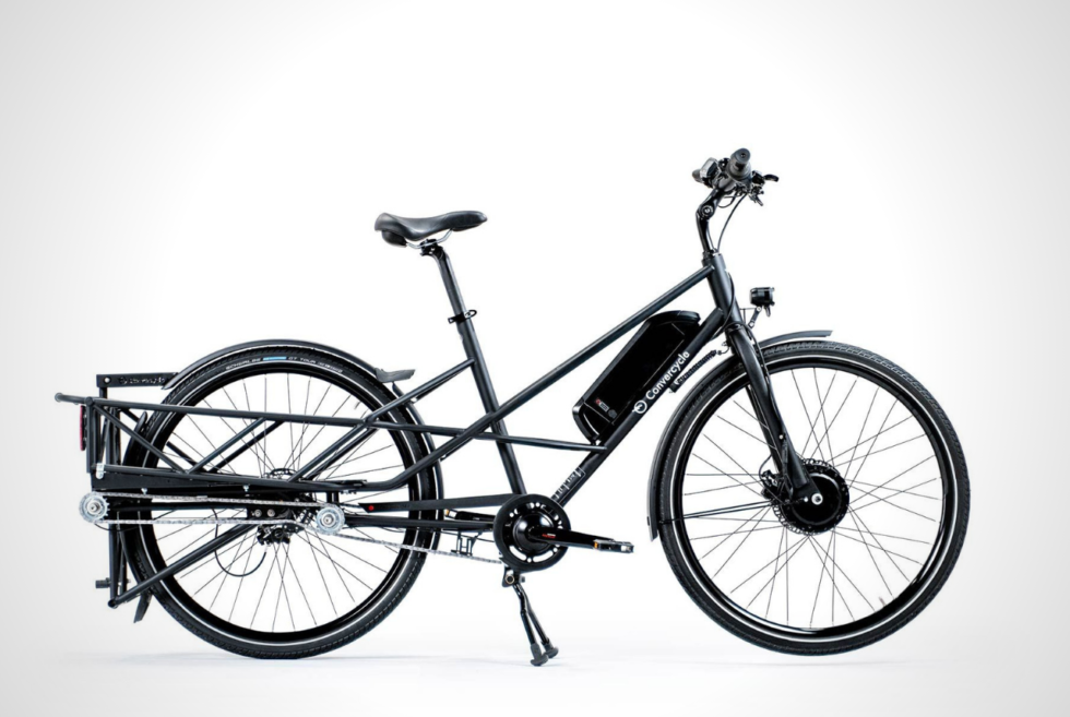 Effortlessly switch between a city or cargo bike with the Convercycle E-Bike