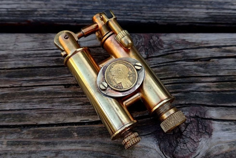 Keep The Fire Burning With the Vintage Warm Knives Steampunk Lighter