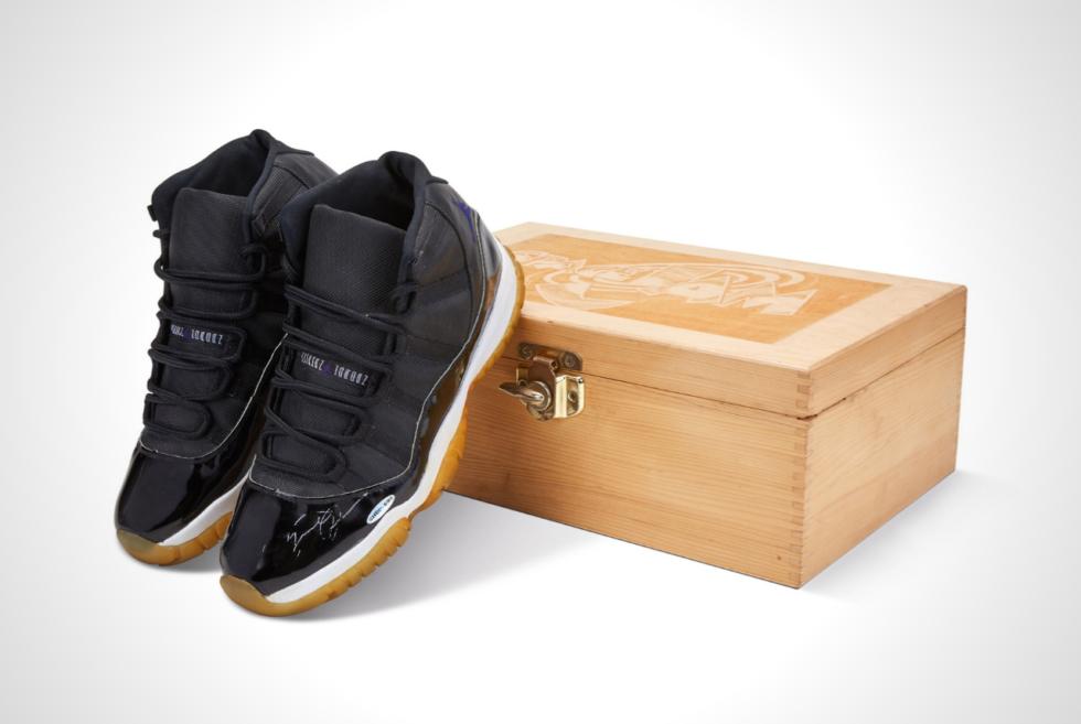 An unused player sample pair of Air Jordan XI Space Jam kicks are heading to auction