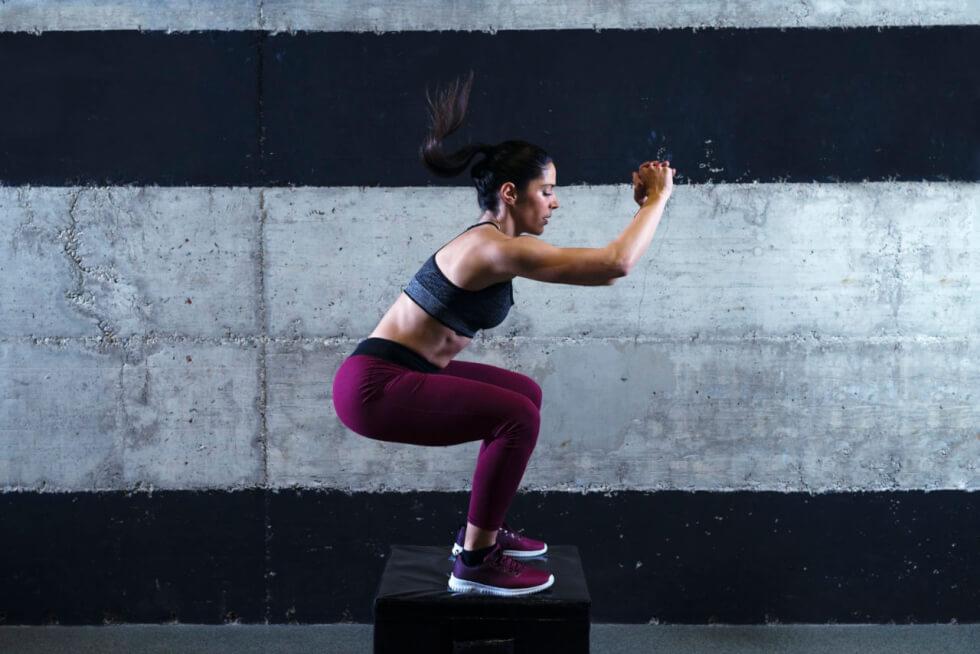 Squad Jump Cardio Workout