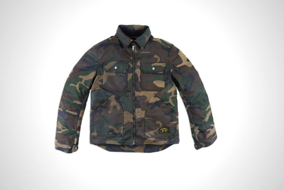 Ride In Comfort and Style With Jane Motorcycles Driggs Jacket In Camo