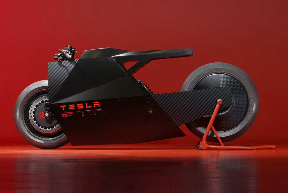THE SOKUDO: Ash Thorp Envisions What A Future Tesla Motorcycle Would Look Like