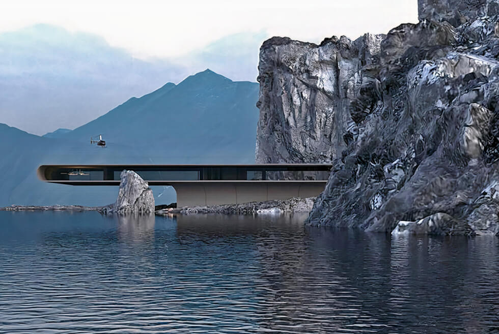 The Concept 439 House Gives The Illusion It's Floating On Water